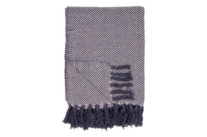 plaid scandinave en coton noir et blanc susanne plaid pas cher. Black Bedroom Furniture Sets. Home Design Ideas