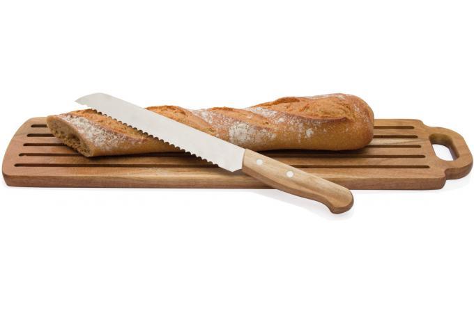 planche a pain en acacia couteau accessoires cuisine. Black Bedroom Furniture Sets. Home Design Ideas
