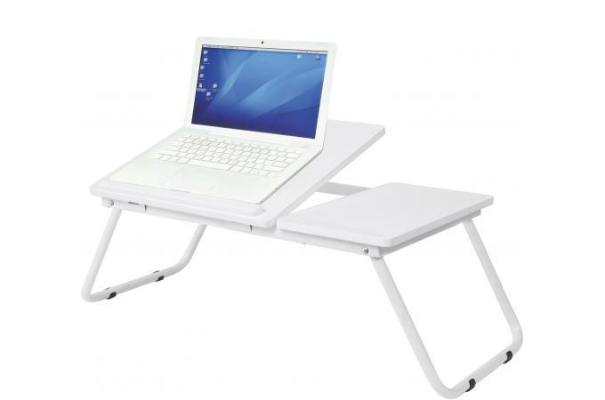 Plateau pour ordinateur blanc sheridan accessoire caisson