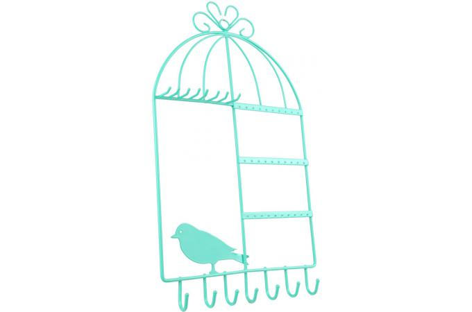 porte bijoux mural en m tal cage a oiseaux vert pia porte bijoux pas cher. Black Bedroom Furniture Sets. Home Design Ideas