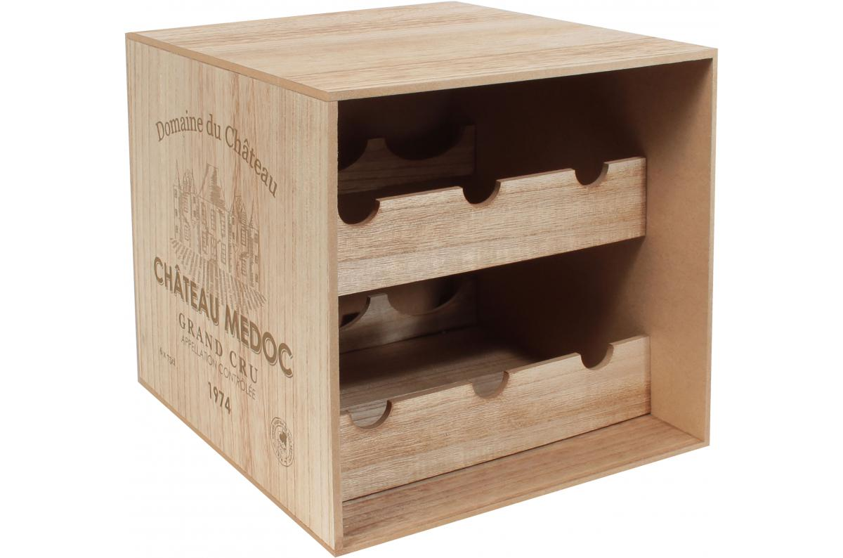 Caisse De Vin Déco porte-bouteilles 6 bouteilles caisse de vin en bois wine plus d'infos