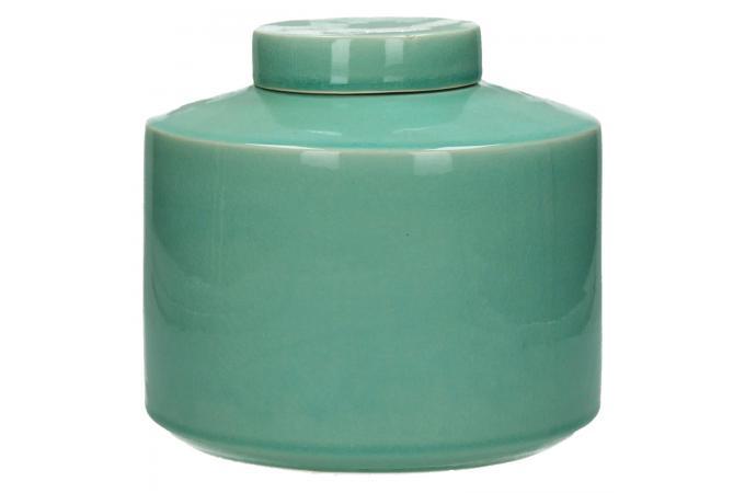pot pomax en c ramique bleu celadon vase pas cher. Black Bedroom Furniture Sets. Home Design Ideas