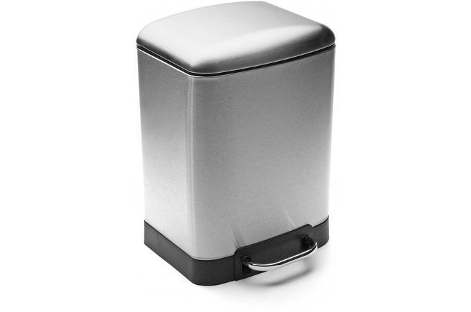 Poubelle rectangulaire argent e 6l bali poubelle design for Poubelle cuisine rectangulaire