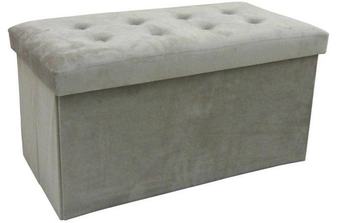 pouf coffre rectangulaire pliant beige sister pouf design pouf g ant pas cher. Black Bedroom Furniture Sets. Home Design Ideas