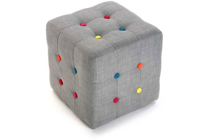 pouf cube multicolore boton pouf design pouf g ant pas cher. Black Bedroom Furniture Sets. Home Design Ideas