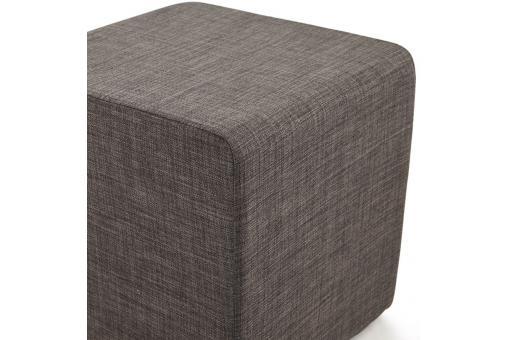 pouf cubique multi fonction gris anthracite fabi 43 x 43 cm pouf design pouf g ant pas cher. Black Bedroom Furniture Sets. Home Design Ideas