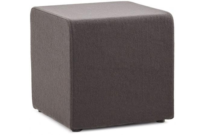 pouf cubique multi fonction gris anthracite feli 43 x 43 cm pouf design pouf g ant pas cher. Black Bedroom Furniture Sets. Home Design Ideas
