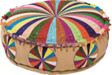 Pouf en Tissu Multicolore Colombo - Pouf multicolore design