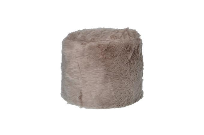 pouf fausse fourrure marron yeti pouf design pouf g ant pas cher. Black Bedroom Furniture Sets. Home Design Ideas