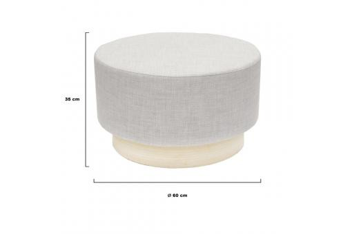 Pouf scandinave 60cm Gris BETTINA - Pouf design pouf geant