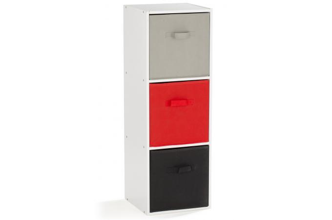 rangement 3 cases blanc molly meuble de rangement blanc