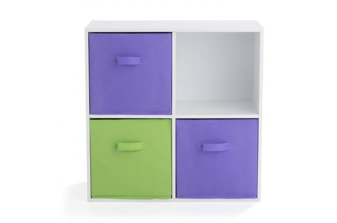 rangement 4 cases blanc molly meuble de rangement blanc