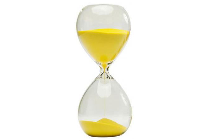 Sablier Kare Design Jaune 30 Minutes TIMER
