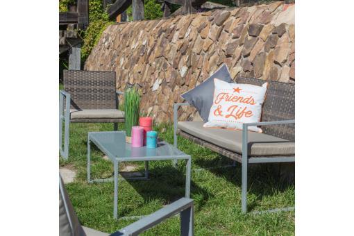 Salon de Jardin Rotin Marron ORNELLO Plus d\'infos