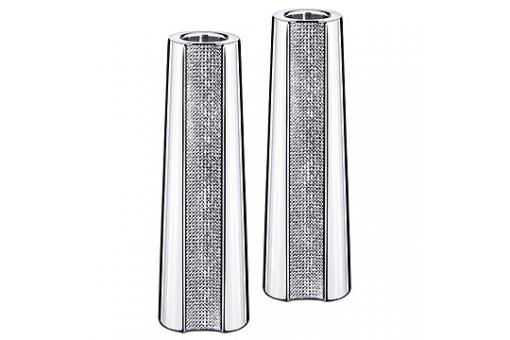 Set De 2 Bougeoirs SWAROVSKI En Cristal FLASHY