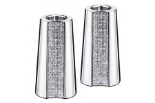 Set De 2 Petits Bougeoirs SWAROVSKI En Cristal FLASHY