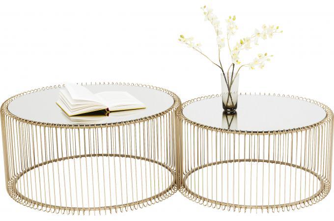Doré Set Tables Basses Basse Cher Wire 2 De Pas Table m0yOvNn8w