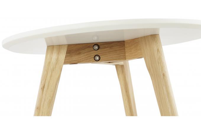 Set De 2 Tables Basses Rondes Scandinaves Blanches Elia Table