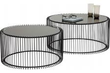 Set de 2 Tables basses Wire noire - Table basse noir design