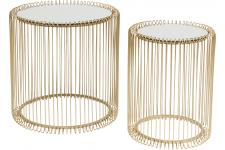 KARE DESIGN - Set de 2 Tables d'Appoint Doré WIRE - Table design