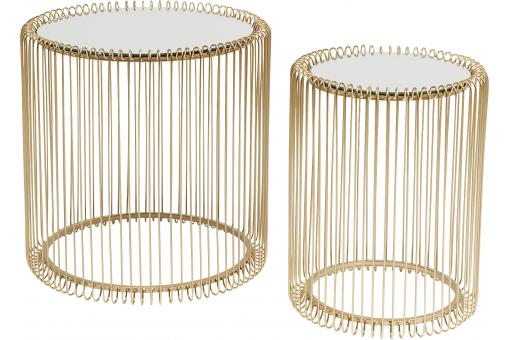Set de 2 Tables Basses Dorées WIRE - Table basse design