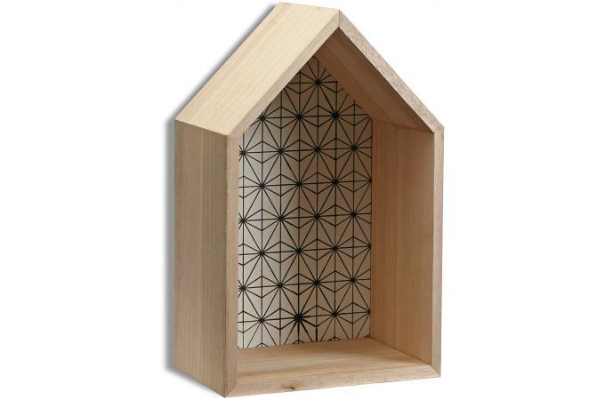 set de 3 tag res maison style scandinave en bois peps etag re pas cher. Black Bedroom Furniture Sets. Home Design Ideas