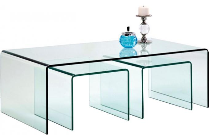 set de 3 tables gigognes en verre fidji tables basses pas cher. Black Bedroom Furniture Sets. Home Design Ideas