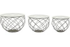 Set de 3 Tables Gigognes Kare Design En Métal PEROKA - Table d appoint metal