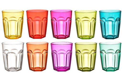 Set De 10 Verres A Shot Multicolores
