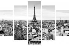 Set De 5 Tableaux XXL Impression Paris 100x150 BIGCITY - Tableaux design