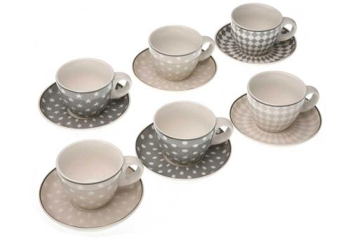 Set de 6 tasses de café scandinaves OLIKA