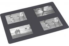 Set De Table Rectangulaire Photos Anthracite 29x42 SOUVENIR - Nappe et serviette design