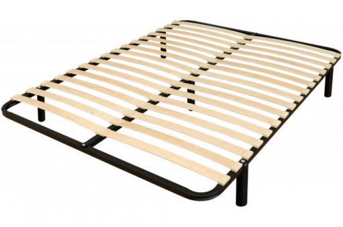 sommier a lattes 120x190 en m tal noir virtual sommier pas cher. Black Bedroom Furniture Sets. Home Design Ideas
