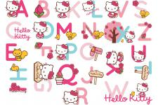 Stickers Alphabet Hello Kitty 3/17,5x33,5 PINKMOUSEY - Tableau enfant