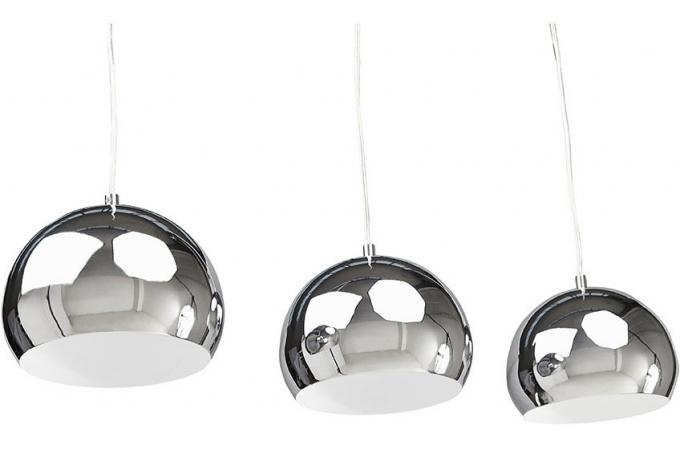 suspension 3 abat jour chrome triky suspension pas cher. Black Bedroom Furniture Sets. Home Design Ideas