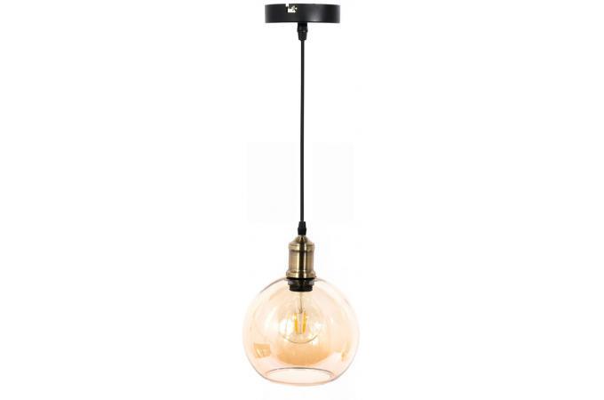 suspension boule en verre fum ambr antonin suspension pas cher. Black Bedroom Furniture Sets. Home Design Ideas