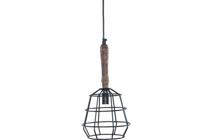 suspension filaire industrielle en m tal gris toxa. Black Bedroom Furniture Sets. Home Design Ideas