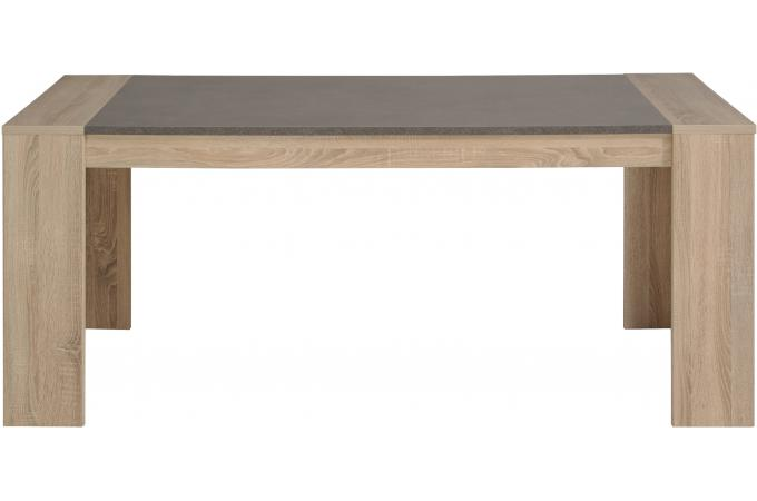 Table manger plaqu en ch ne brut effet b ton spoid for Table a manger beton