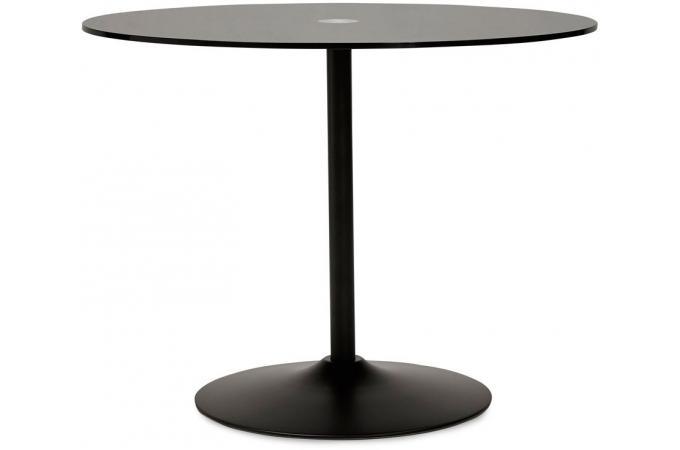 table manger noire design plateau en verre bloom table manger pas cher. Black Bedroom Furniture Sets. Home Design Ideas