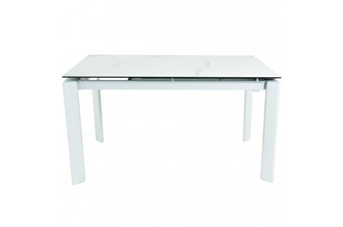 table a manger 140 cm extensible blanc loofta table. Black Bedroom Furniture Sets. Home Design Ideas