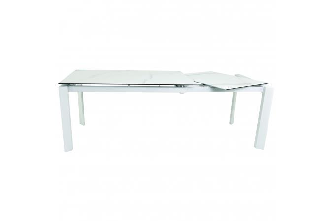 table a manger 140 cm extensible blanc loofta table manger pas cher. Black Bedroom Furniture Sets. Home Design Ideas