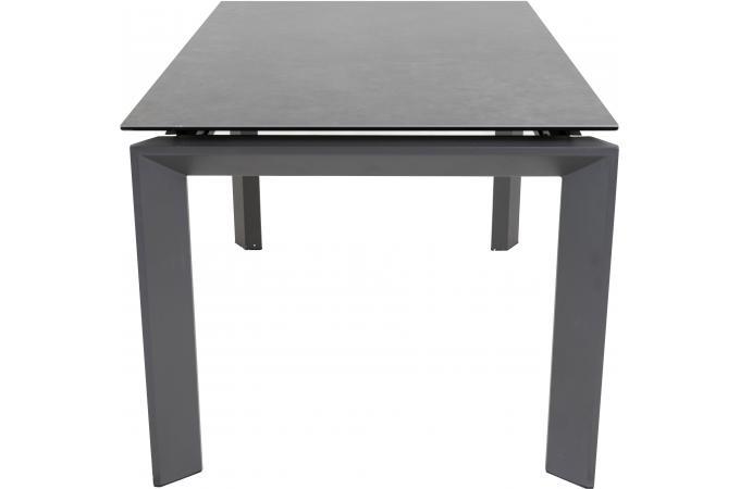 table a manger 140 cm extensible gris fonc loofta table manger pas cher. Black Bedroom Furniture Sets. Home Design Ideas