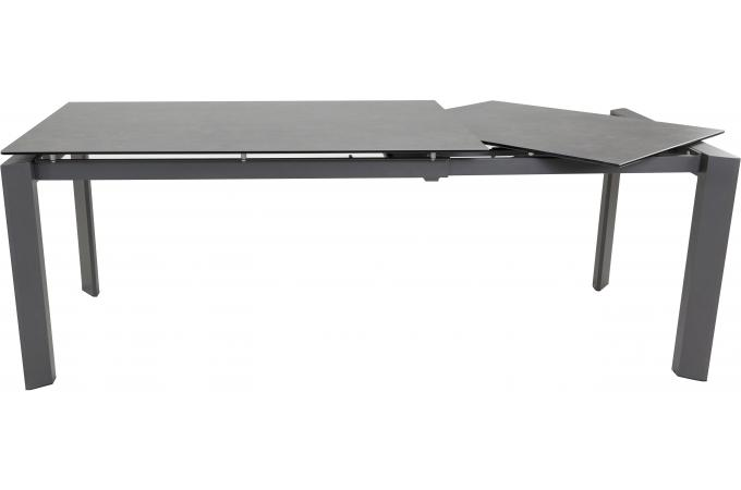 table a manger 140 cm extensible gris fonc loofta table. Black Bedroom Furniture Sets. Home Design Ideas