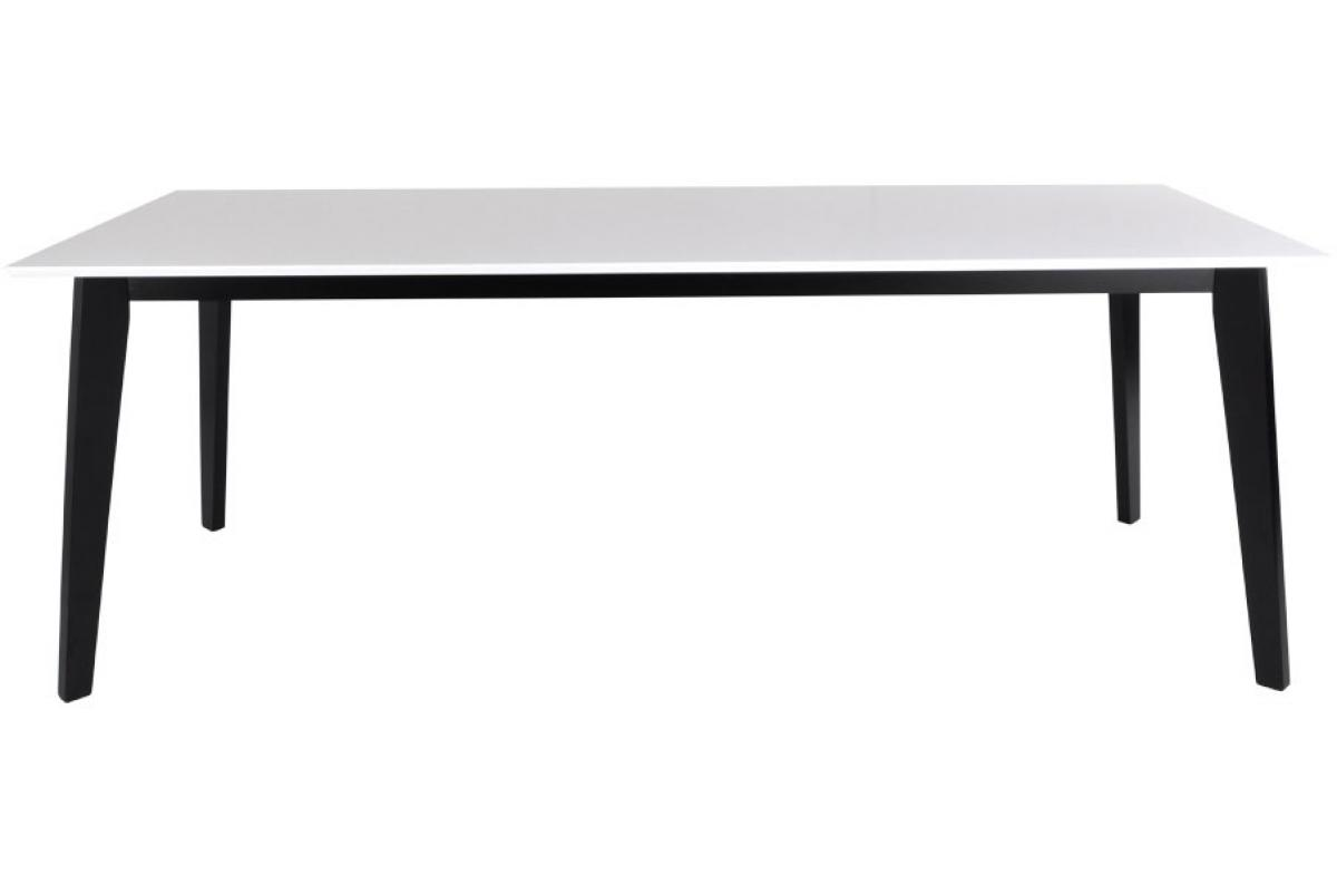 Table à manger blanche et noire VOJENS - Table à Manger Pas Cher