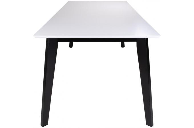 Table à manger blanche et noire VOJENS Plus d\'infos