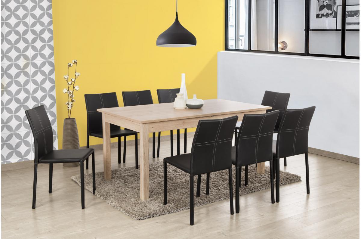 Table De Salle À Manger Carrée Extensible table à manger extensible 2 rallonges bois 160x90 hathor