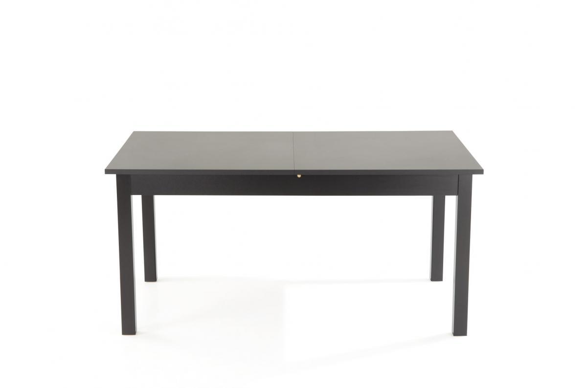 Table A Manger Extensible 2 Rallonges Bois Noir 160x90 Hathor