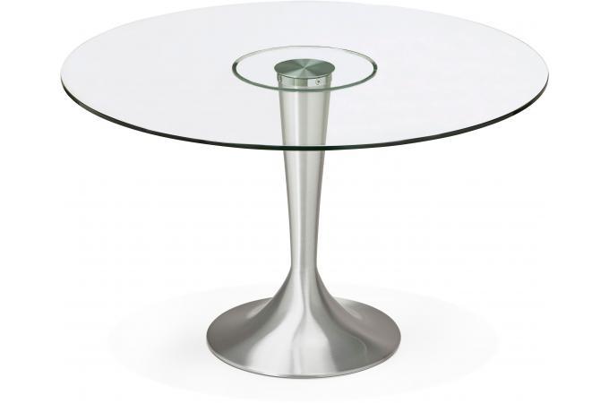 Table A Manger Ronde Verre Pied Metal D120 Epsom Table A Manger