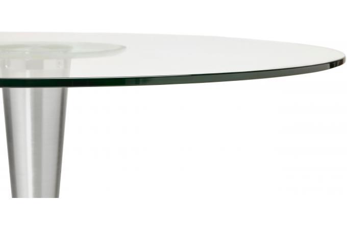 table manger ronde verre pied m tal d120 epsom table manger pas cher. Black Bedroom Furniture Sets. Home Design Ideas