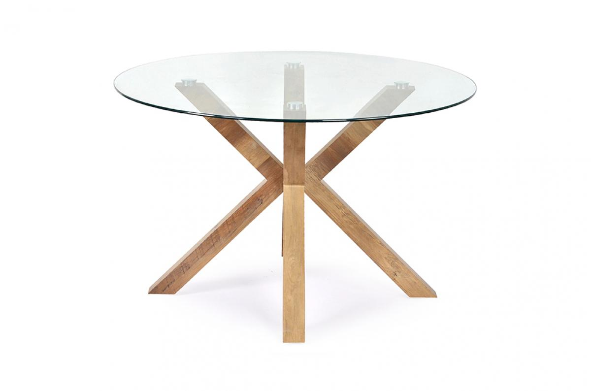 Table à Manger Ronde Verre Trempé TURIS - Table à Manger Pas ...